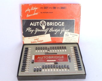 Vintage AUTO BRIDGE GAME/ Play Yourself Bridge Game