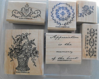 Stampin Up - Stamp Set - Memory of My Heart - Set 44