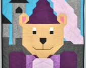 Princess Bear Quilt PATTERN with 3 sizes: 24x28, 36x42, and 48x56