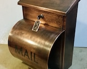 LARGE PATINA copper mailbox with Newspaper Holder( 20 ounce)