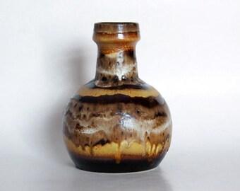 Vintage West German Brown Vase - Dumler Breiden