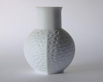 Vintage  German White Porcelain Vase - Jaeger & Co