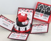 Las Vegas Casino Themed Exploding Box Invitation w / 3-Tier Cake (Deposit ONLY)