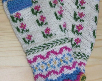Spring Latvian Fingerless Mitts kit