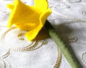 Felt Daffodil Flower Pin Brooch Yellow Welsh Gift Spring Flower Brooch Pin