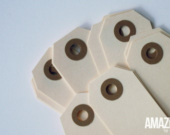 25 small manila shipping tags