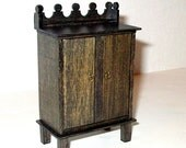 Rustic Cabinet, Medieval Dollhouse Miniature 1/12 Scale