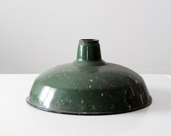 vintage industrial light shade, 1930s warehouse light
