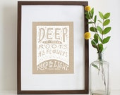 Illustrated Theodore Roethke Quote Silkscreen Print