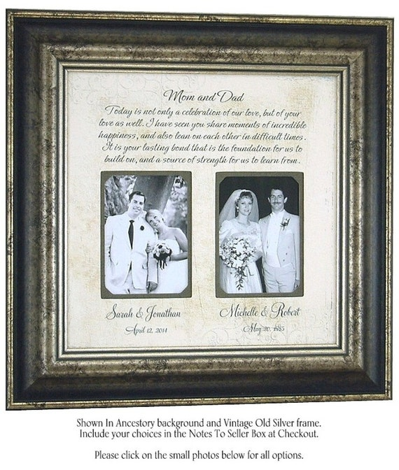 ... Gift, Parent Wedding Gift, Mother of the Groom Gift, Parents of the