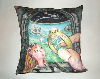 Children's Fairy Tale Pillow Cover - The Princess & The Goblin