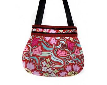 Pink Hippie floral shoulder bag