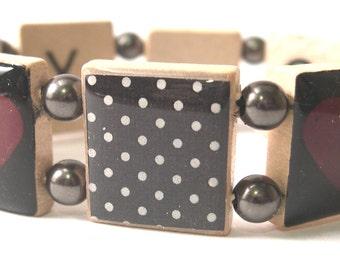 XOXO Scrabble Bracelet