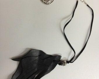 SJ Leather Necklace_Black