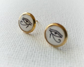Eye of Horus Earrings - Eye of Ra Earrings - Eye of Horus Jewelry -Wedjat