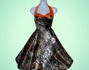 Swing style camo dress