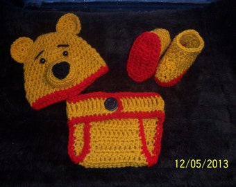 Winnie the Pooh Diaper Set Photo Prop Costume-Boy or Girl