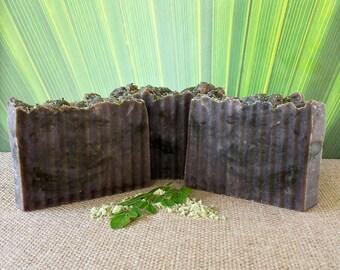 Moringa & Seaweed 100% Natural Skin Detox Organic Shea Soap Bars. Custom Handmade, Vegan, Gluten Free. Premium Quality.