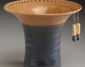 Oatmeal and Slate blue earring holder