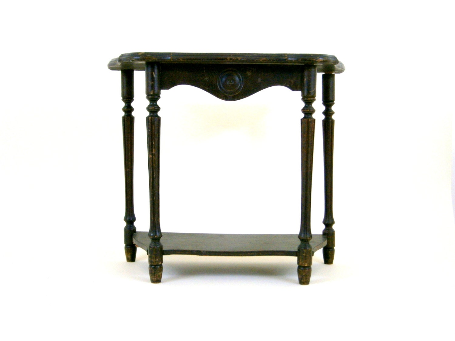 antique table 1940s small side table low table wooden table