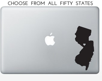 State Love Decal, New Mexico, New York, North Carolina, North Dakota, Ohio