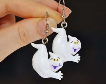 Vintage Mostly Ghostly Earrings