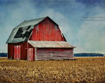 Ohio Barn 8x10, 16x20, 20x24 Fine Art Photography Print, Ohio Photography, Barn Photography, Rural Photography, Country Farmhouse