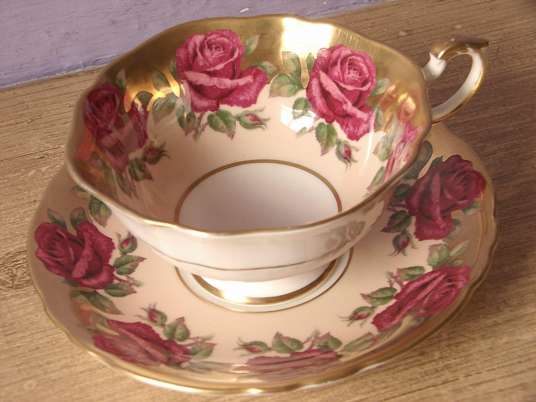 tea set vintage roses wallpaper - photo #22