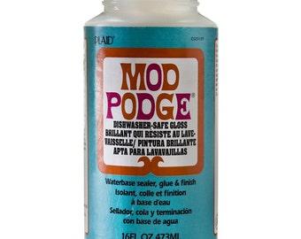 Mod Podge Dishwasher Safe Gloss Sealer Glue - 16 ounces (302587)