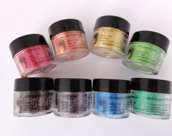 Brand new colors 8 piece Chromatic Pearl ex Powdered Pigments Set !!!604-3 Just released