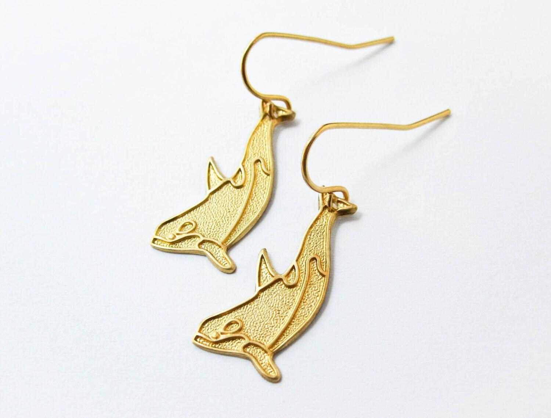 killer whale earrings orca earrings whale jewelry