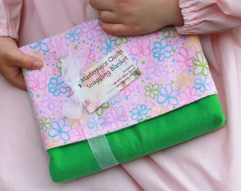 A Pink & Green Masterpiece Quilt Snuggling Blanket