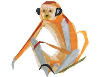 Charlie Monkey - Animal Art Print