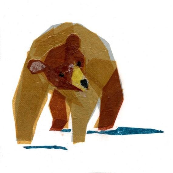 Linus Bear - Animal Art Print
