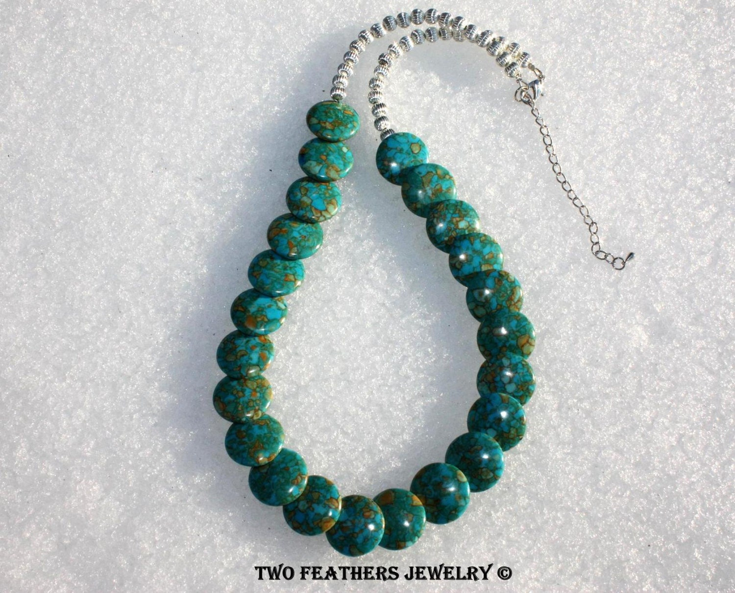 Mosaic Turquoise Necklace Turquoise And Silver Necklace