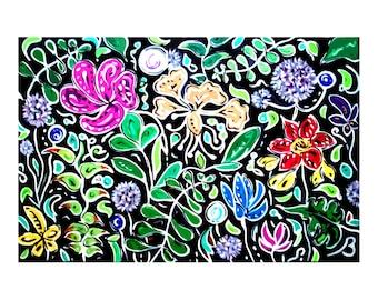 Fantasy Garden Art Print on Cardstock