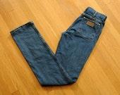 mens vintage jeans 80s wrangler jeans medium wash regular fit boot cut bootcut 30x38 30 waist 38 inseam long extra long Lucky 7