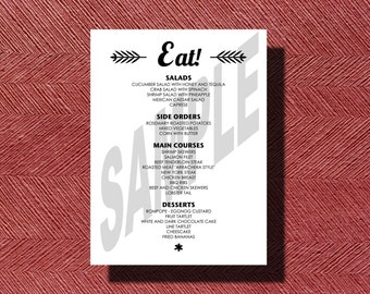 Simple Wedding Reception Dinner Menu