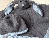RESERVED FOR MERRI--Baby Bunny Lovie and Hat Set
