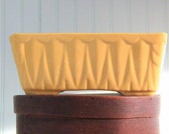 Vintage Mid Century Canary Yellow  Planter