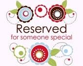 Reserved Listing for Natalie M