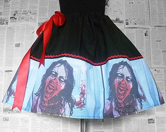 Zombie,Zombie Skirts, The Walking Dead, Geek Clothing, Womens Zombie Clothing, ROOBY LANE