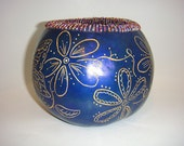 Gourd Bowl-Small Blue wit...