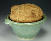 Beer Bread Baker in green glaze Bread Bowl