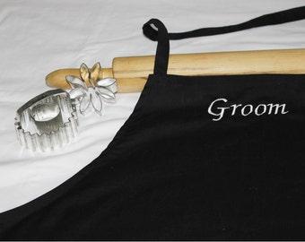 Groom Apron - Black