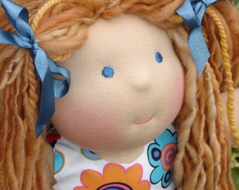 Custom Waldorf Doll DEPOSIT, 12 inch doll, made to order FEBRUARY 2017