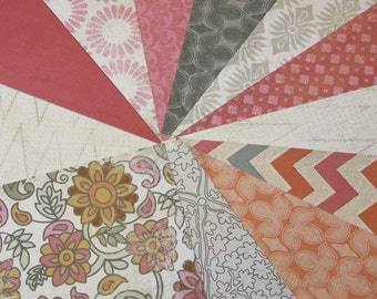 "Scrapbook Paper: Destash - 12 Sheets of 6"" x 6"" - One each of 12 designs / MME/Indie Chic/Saffron"