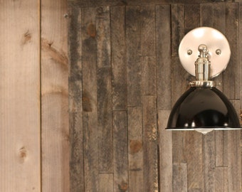 Lighting with Black Metal Dome Shade and Exposed Socket Design