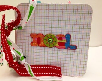 Christmas premade scrapbook chipboard premade pages snowman joy snowflakes