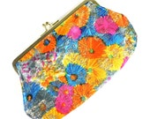 1960s Small Floral Purse